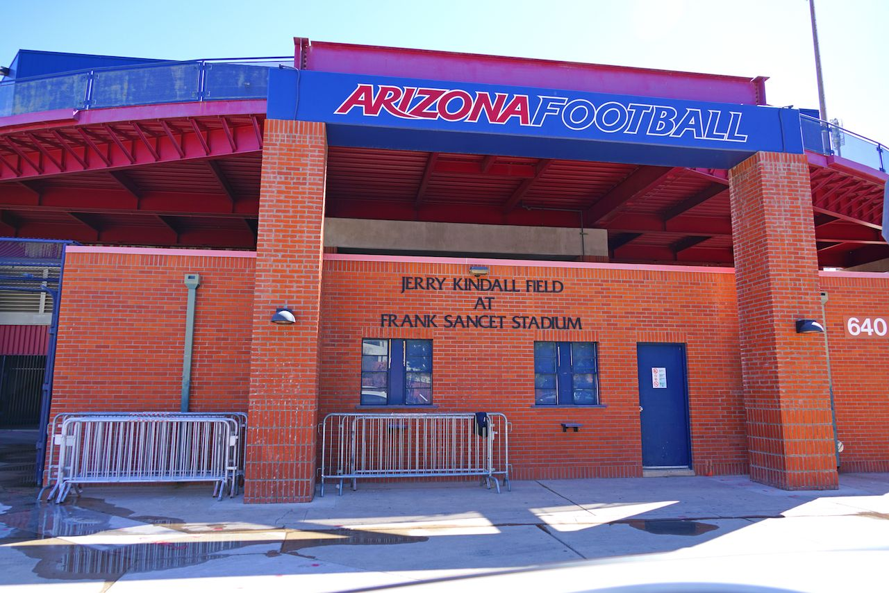 campus of the University of Arizona near the Jerry Kindall Field at Frank Sancet Stadium