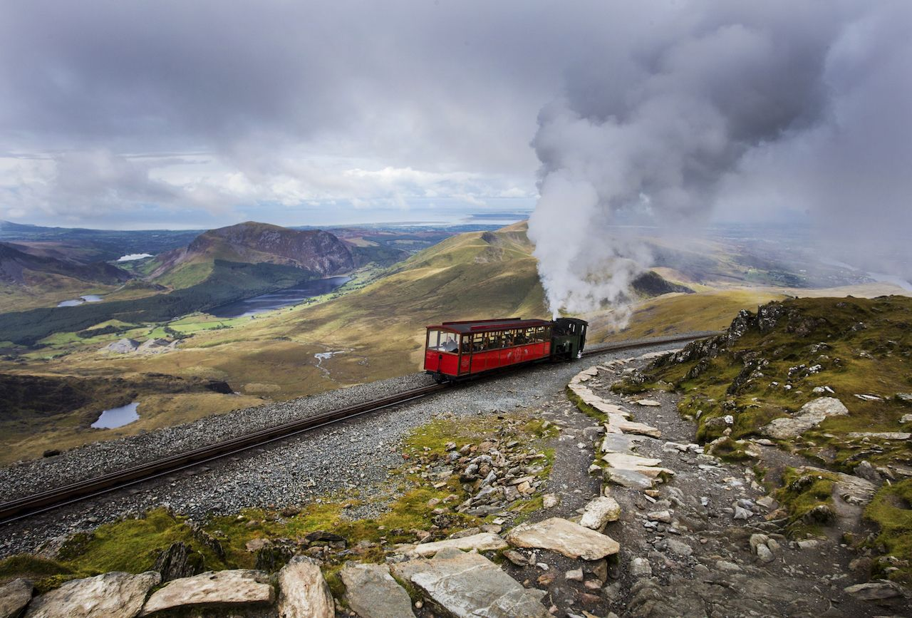 Snowdon Mountain Railway in Wales
