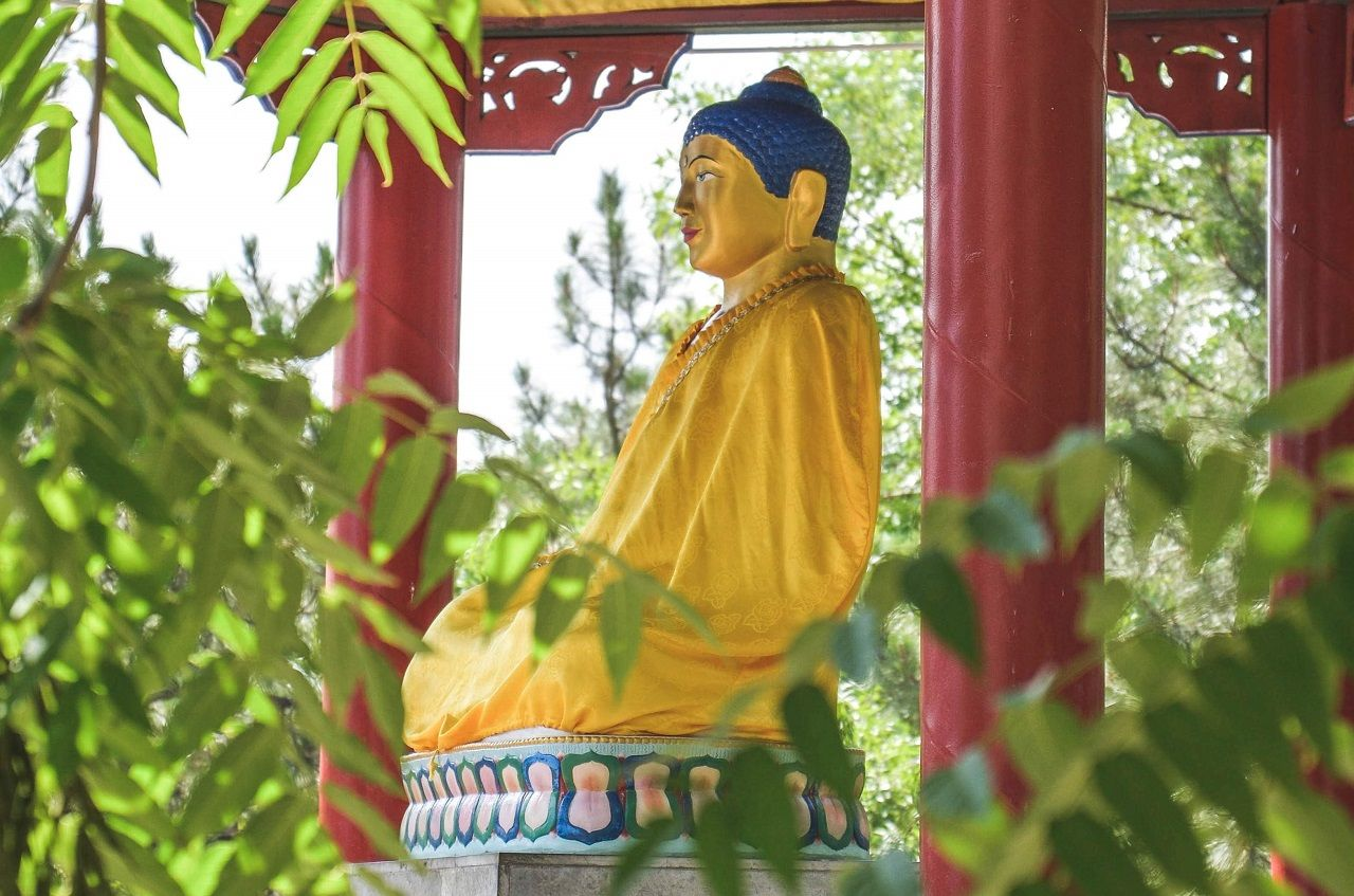 Golden Buddha in Elista, Russia