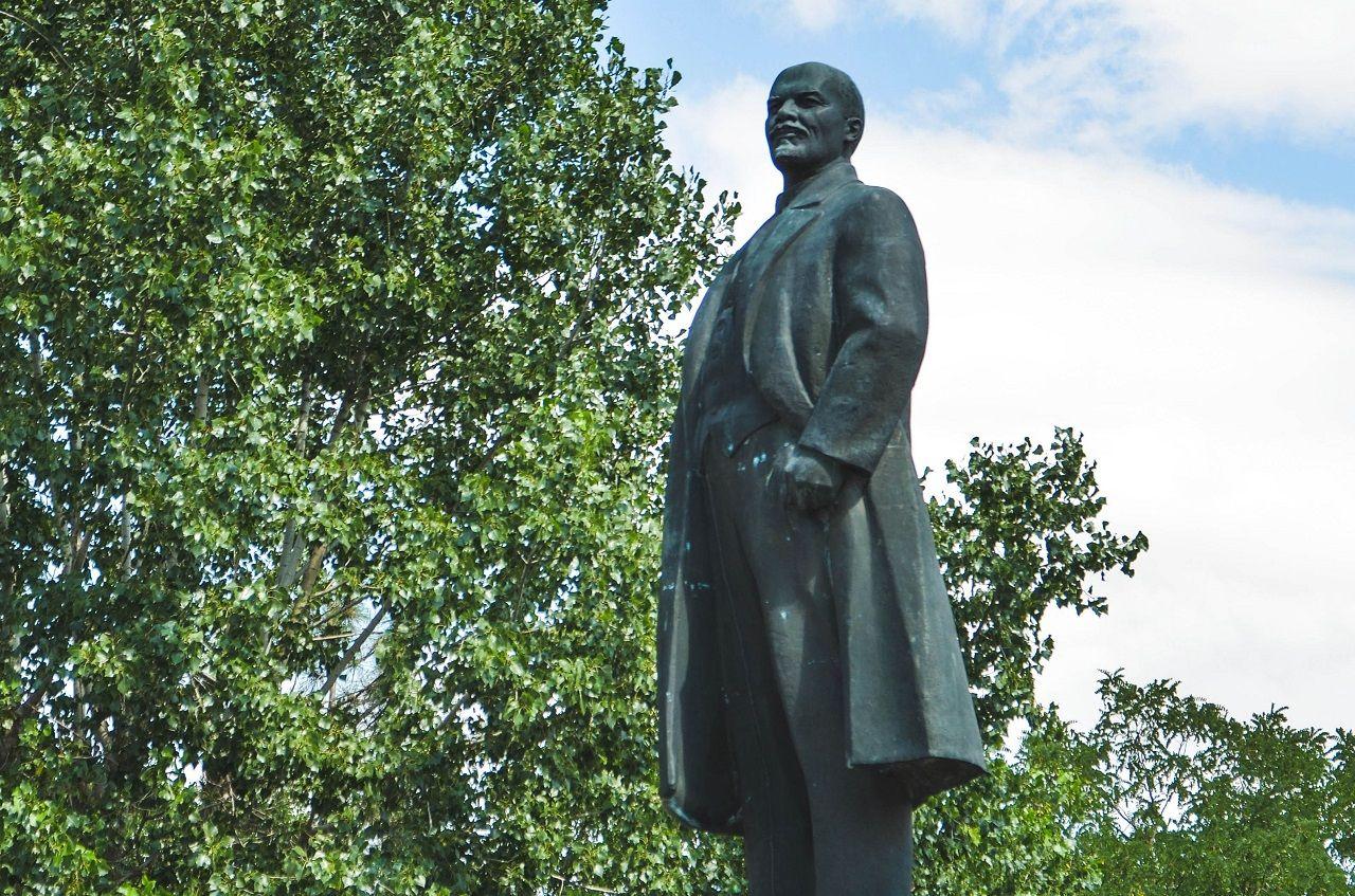 Statue in Elista, Russia