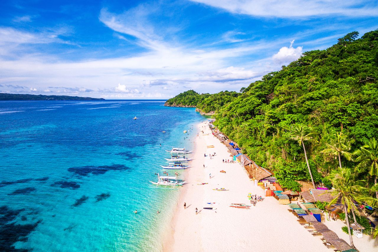 Aerial view of Boracay Island, Philippines