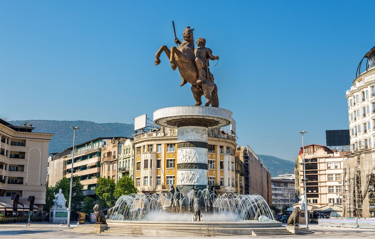 Alexander the Great Monument in Skopje