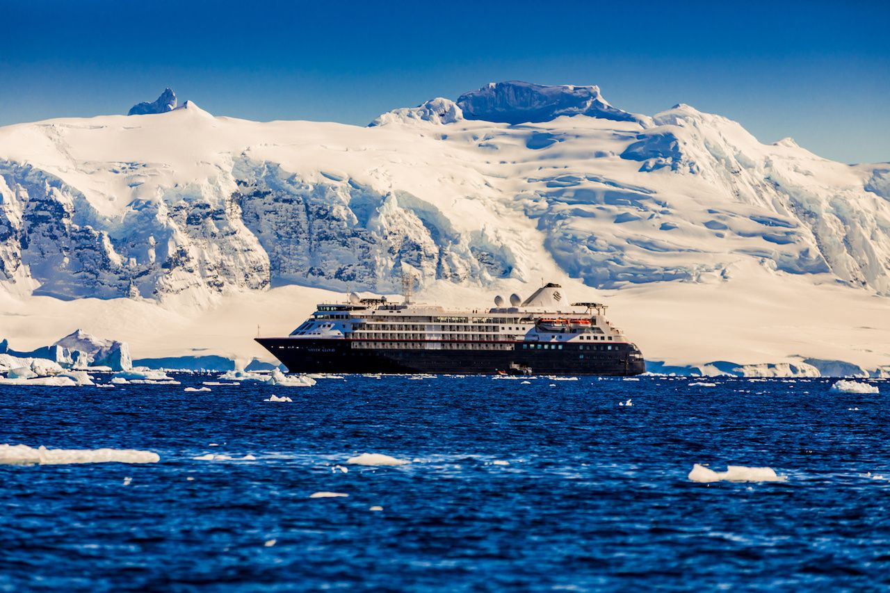 Antarctic cruise ship