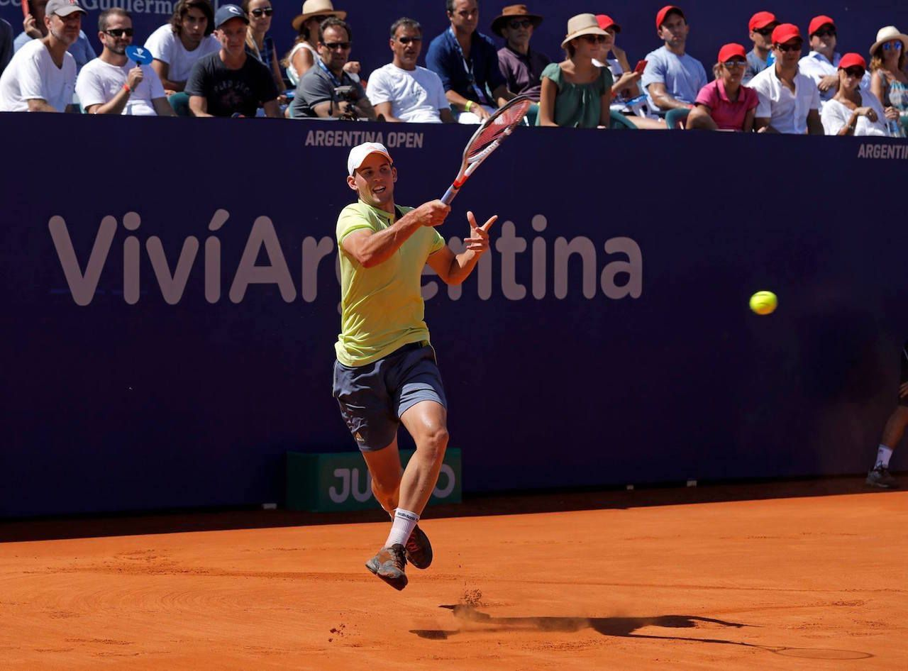 Tennis player playing at the Argentina Open