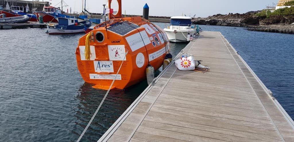 Barrel that Jean-Jacques Savin will cross the Atlantic in