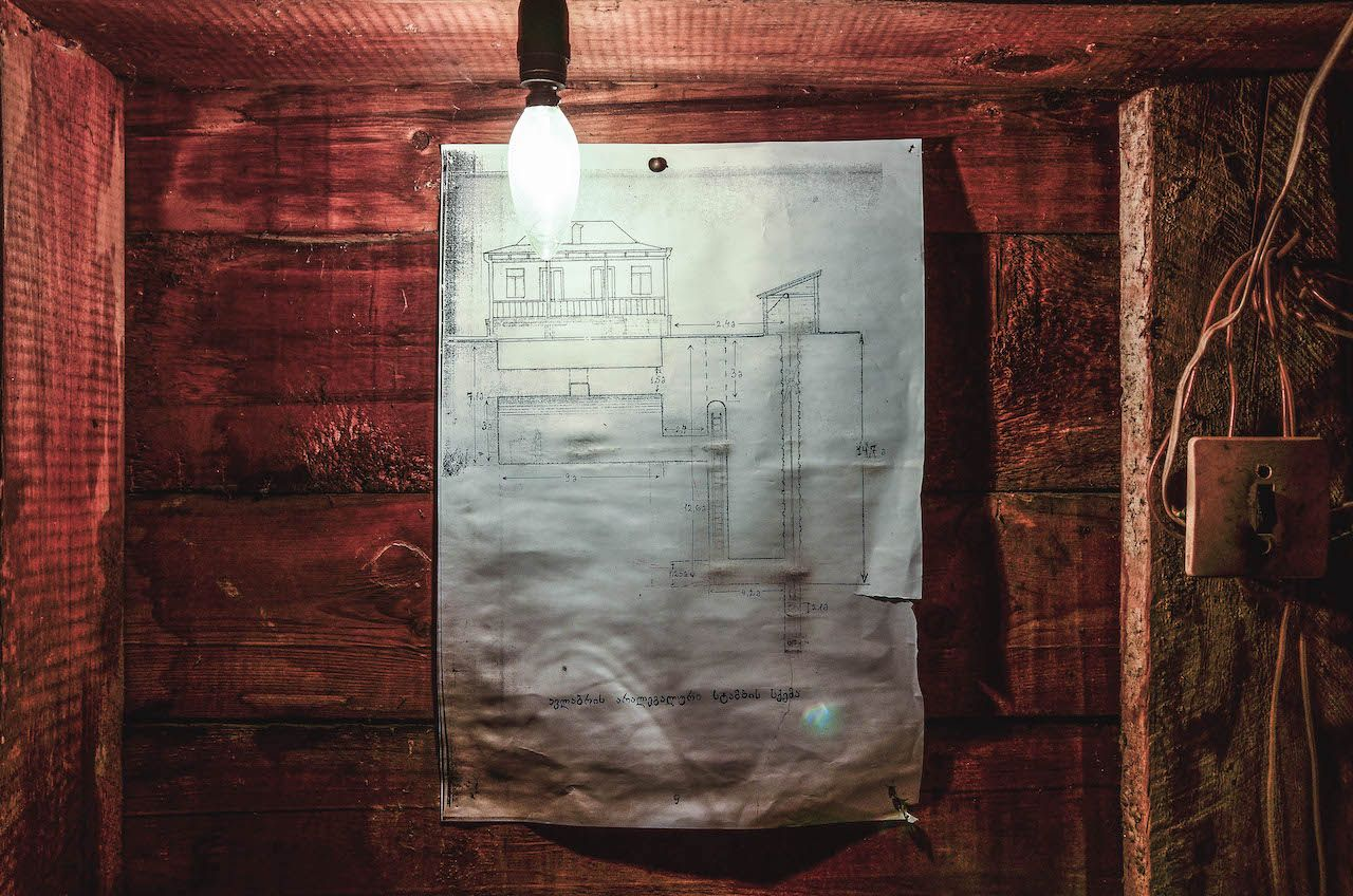Blueprints of Stalin's underground printing house in Tbilisi, Georgia