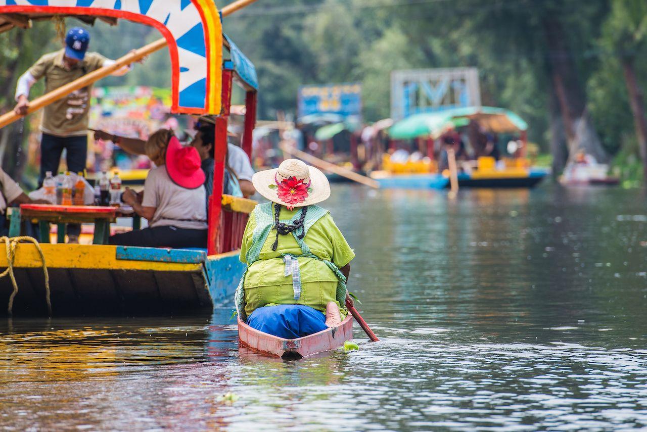 Boats in Xochimilco, Mexico City