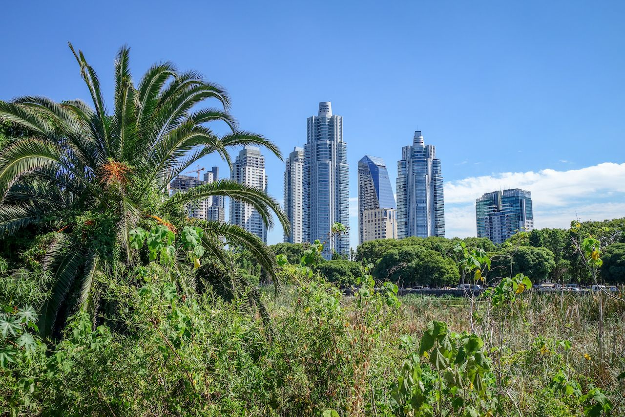 Buenos Aires, Argentina cityscape view from Costanera Sur Ecological Reserve