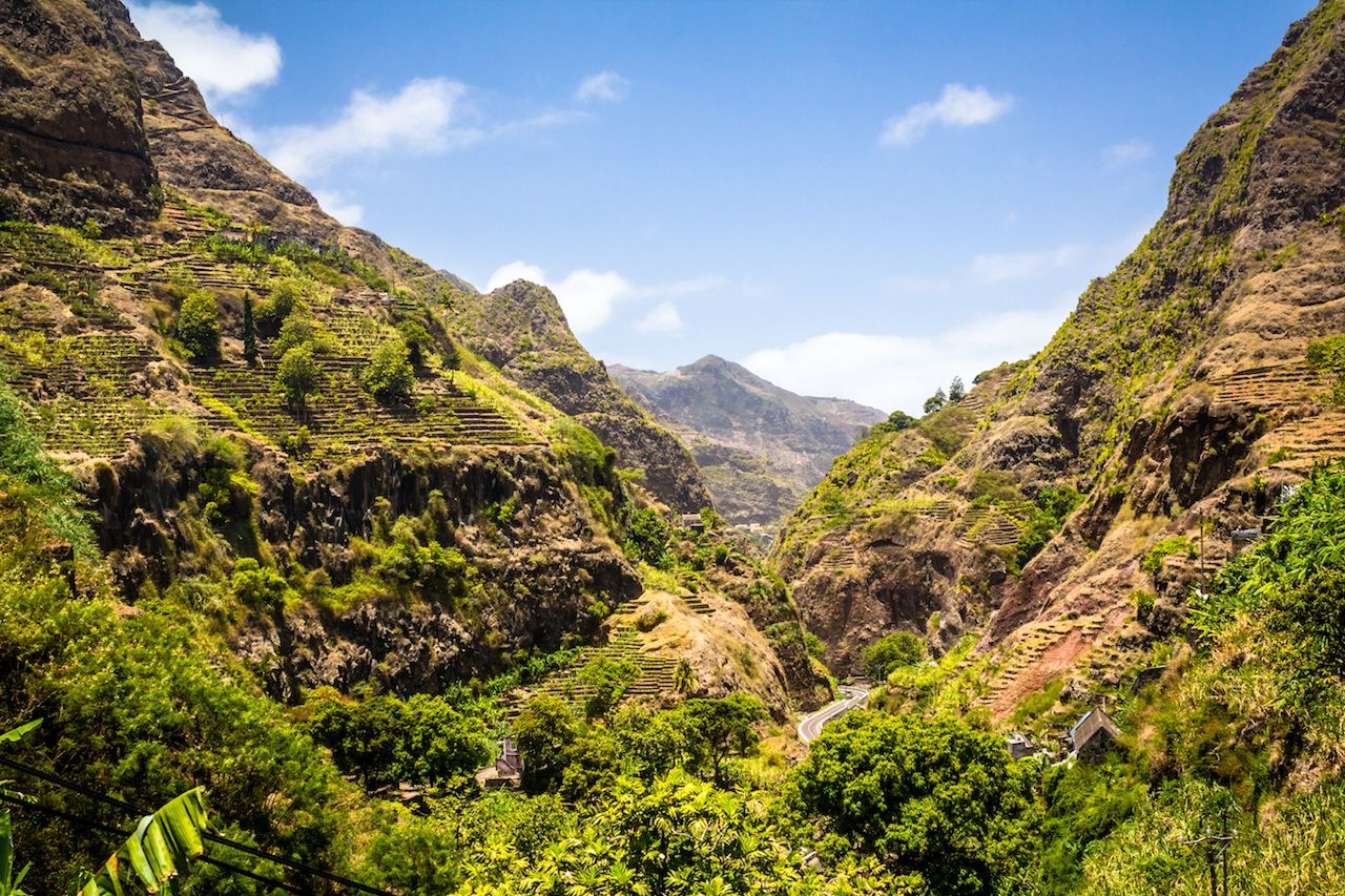 Cape Verde mountain landscape