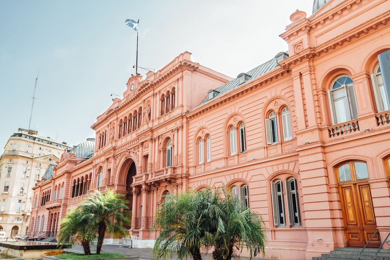 Casa Rosada presidential offices in Buenos Aires, Argentina