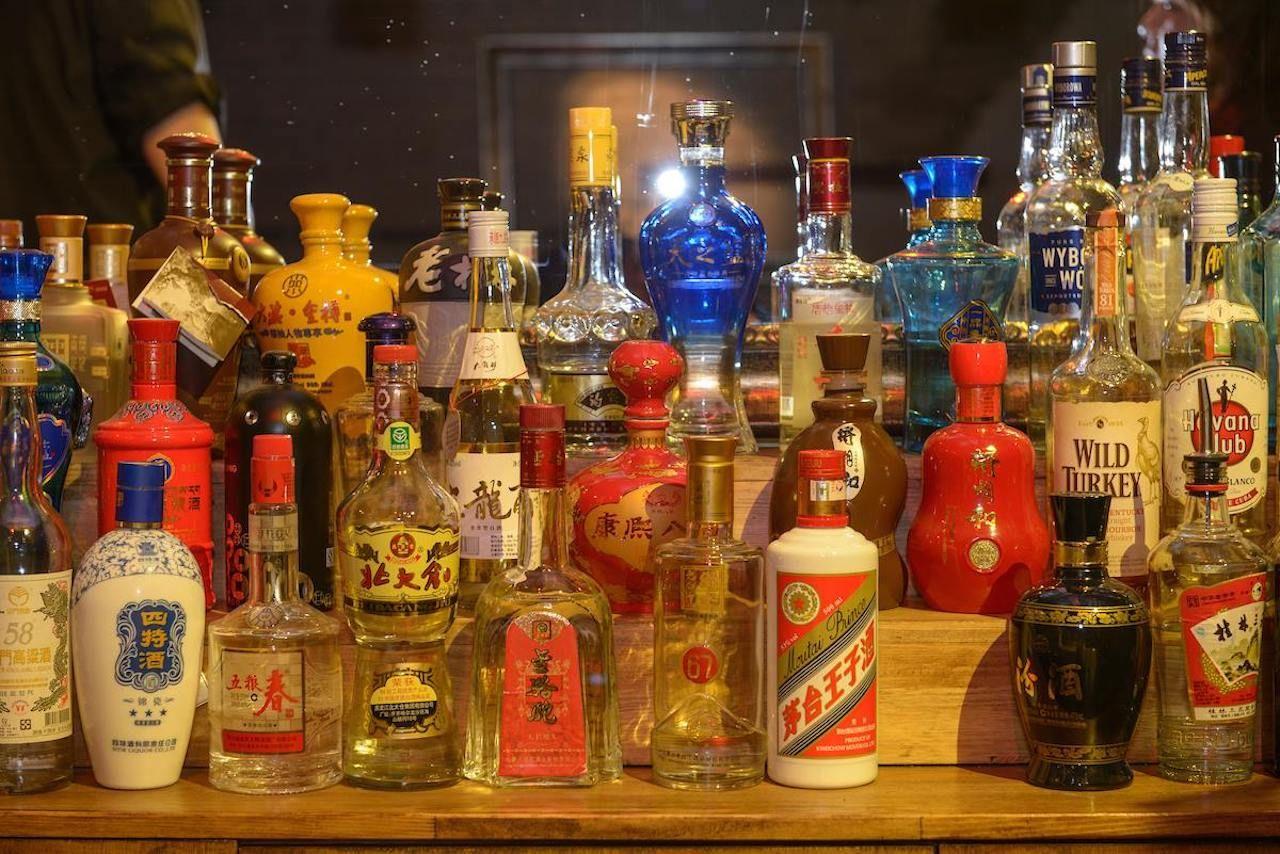 Chinese liquor bottles