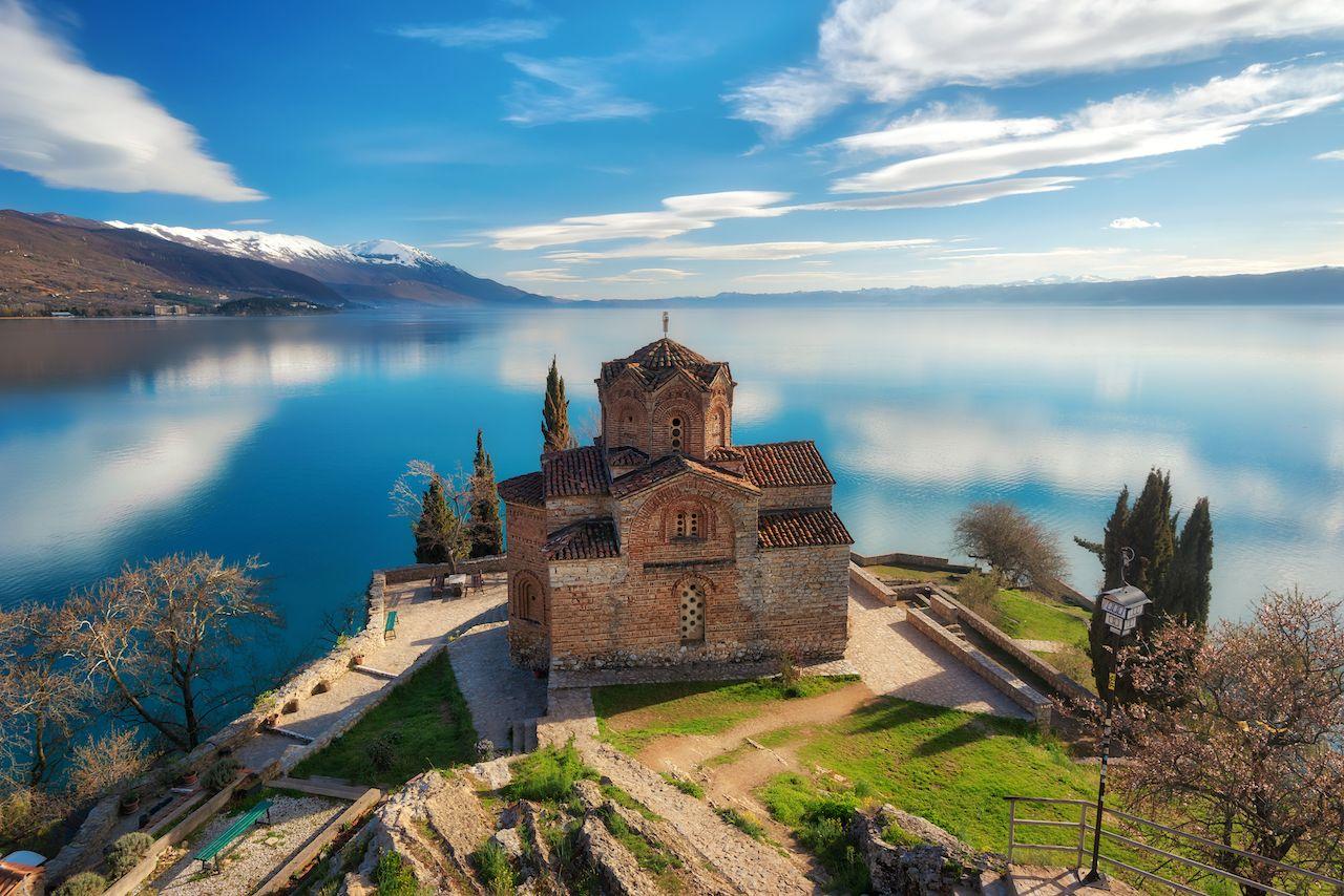 Church of St. John the Theologian at Kaneo, Ohrid, Macedonia
