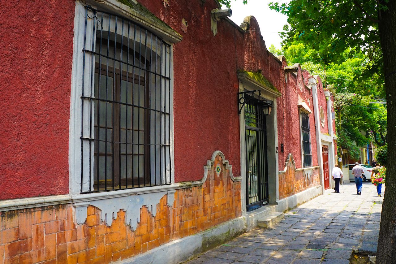 Coyoacan Suburb in Mexico City