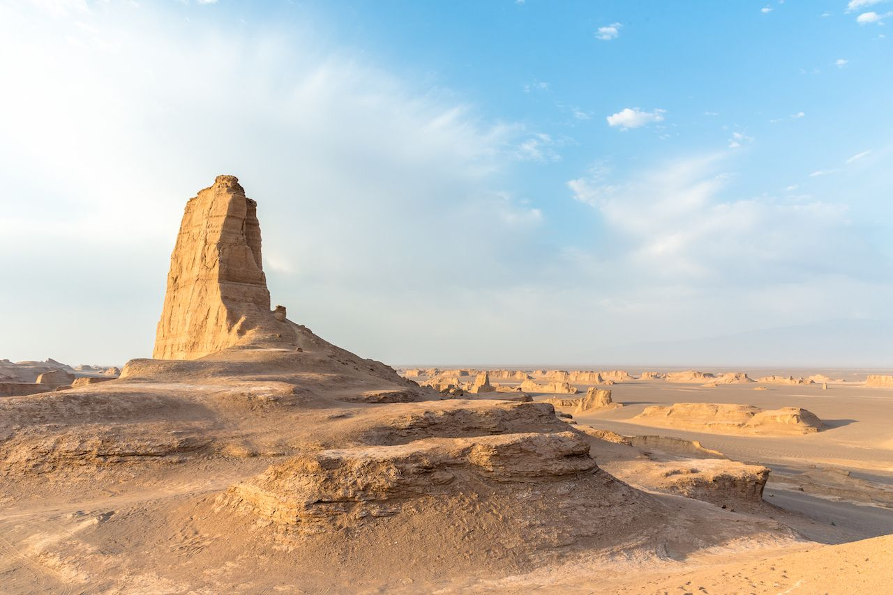 Dasht e Lut desert in Iran with rock formations