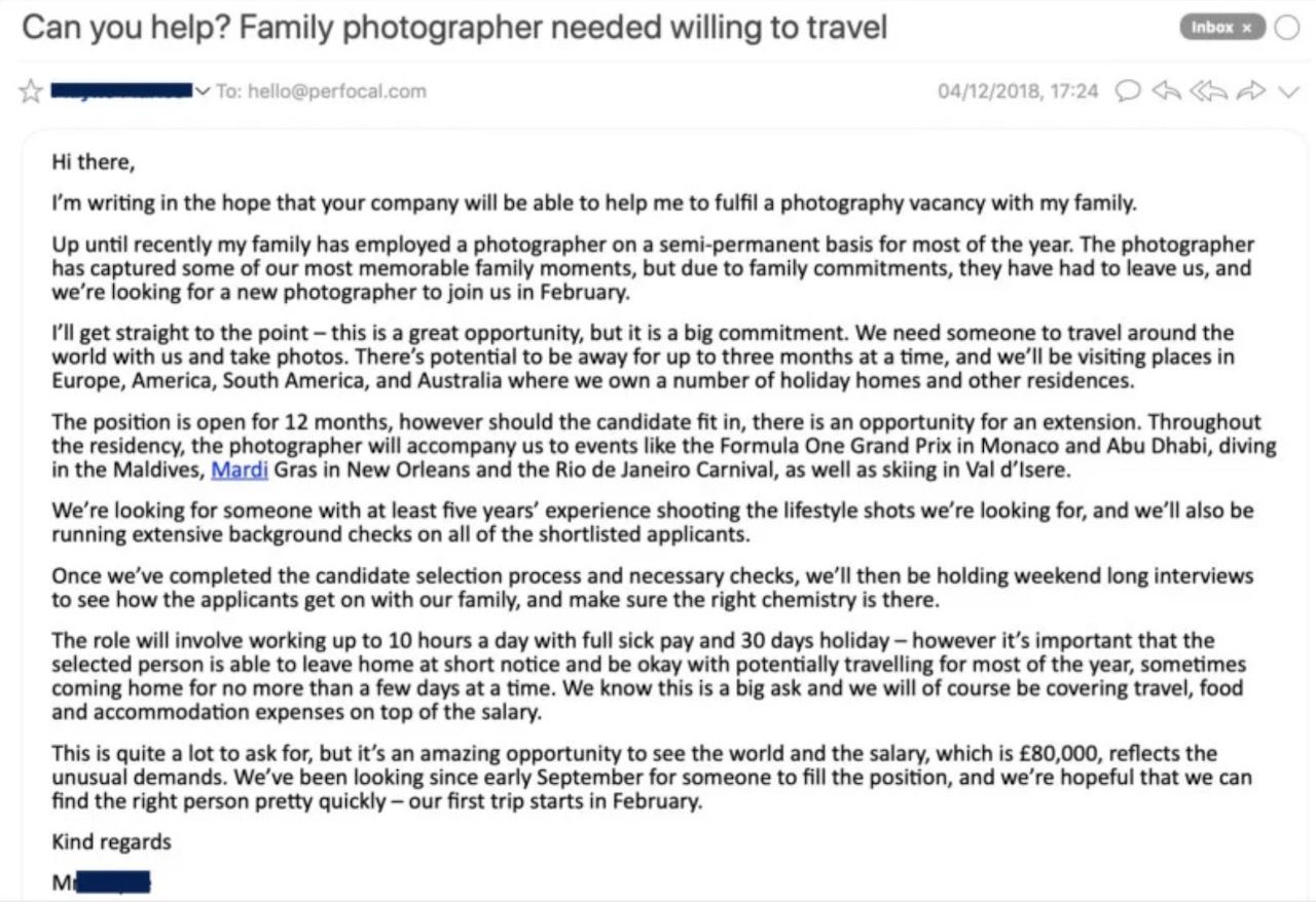 Family travel photographer wanted