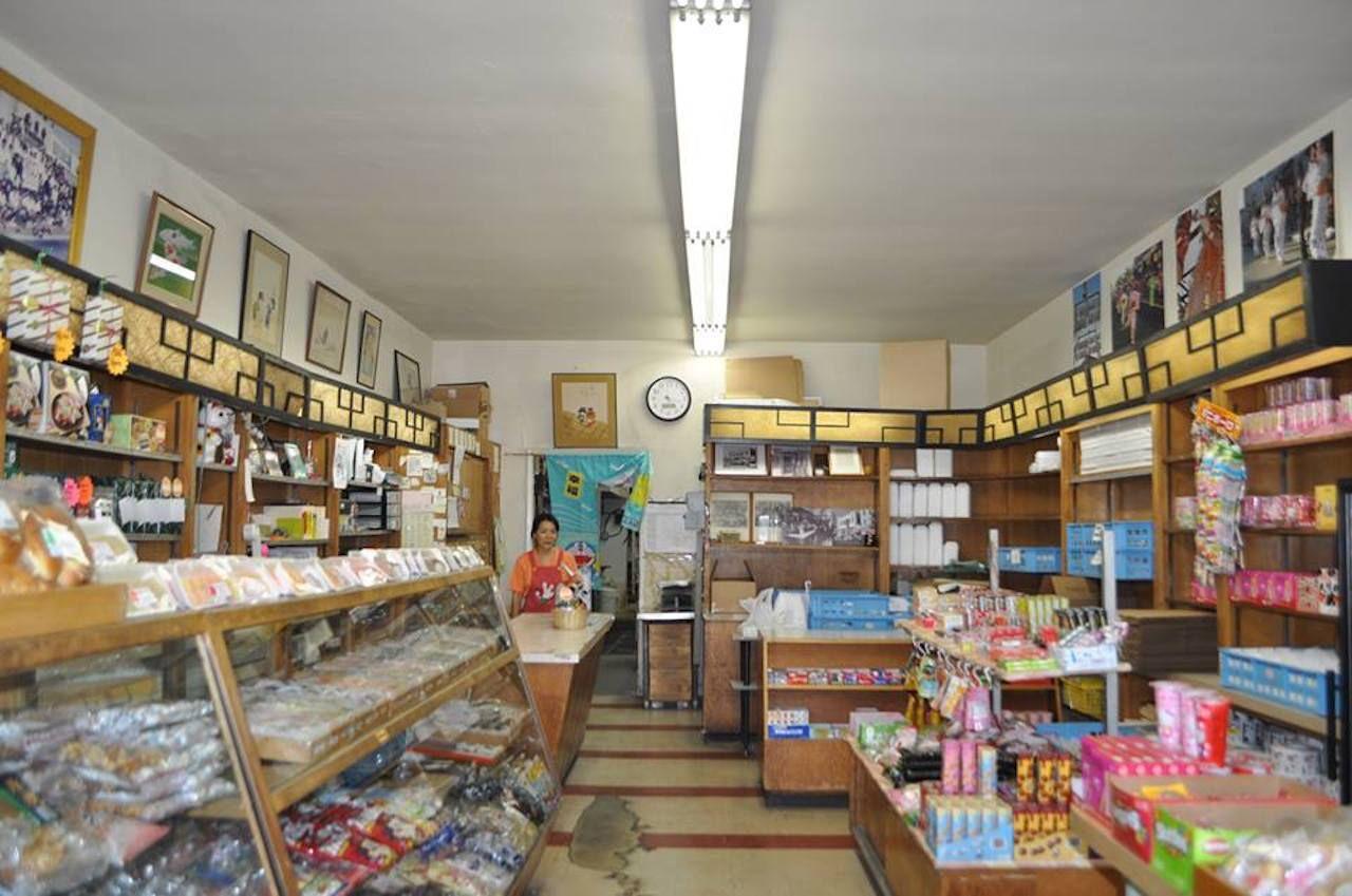 Fugetsu Do sweet shop in Japan