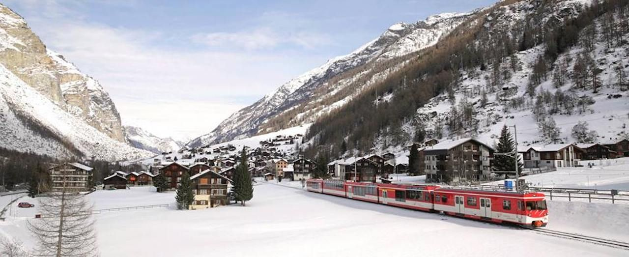 Scenic train rides to ski resorts
