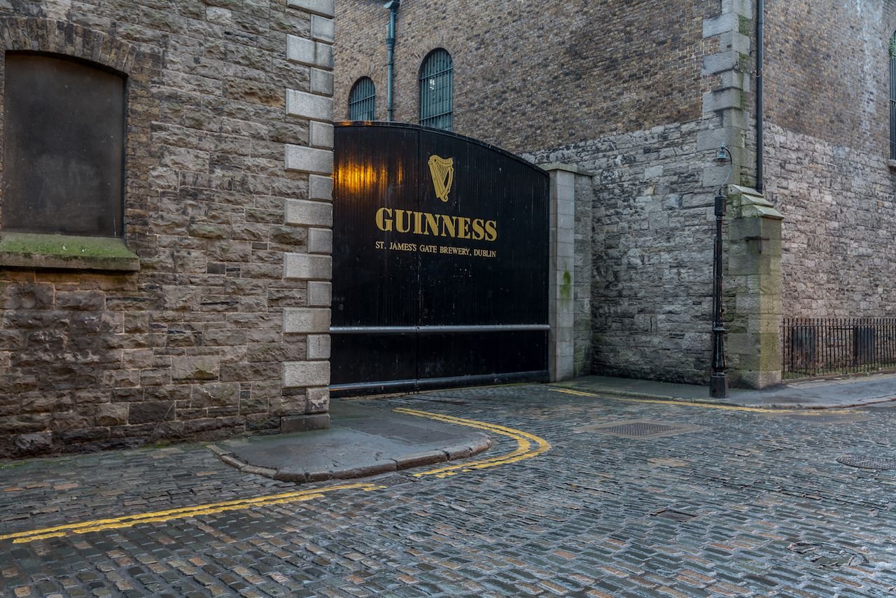 Guinness brewery front gate