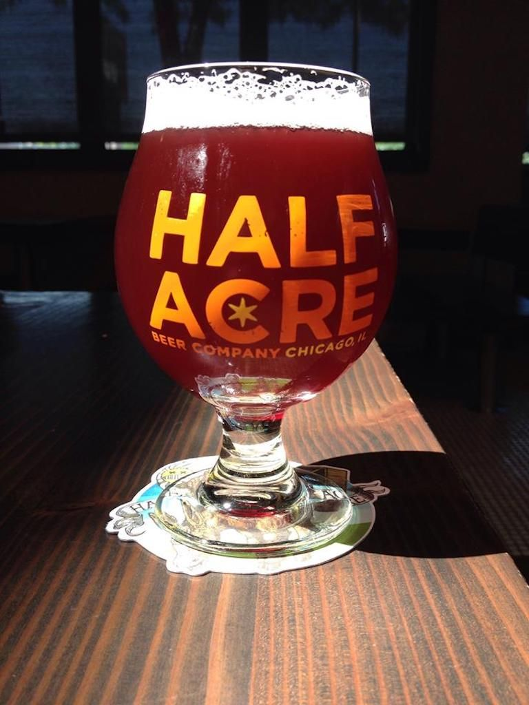Half Acre Beer Company pint glass