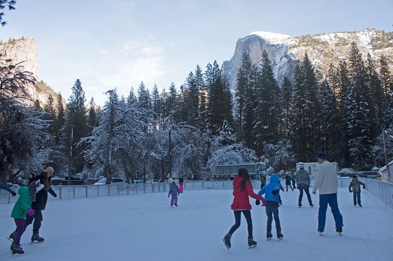 Half Dome Village Ice Rink at Yosemite National Park