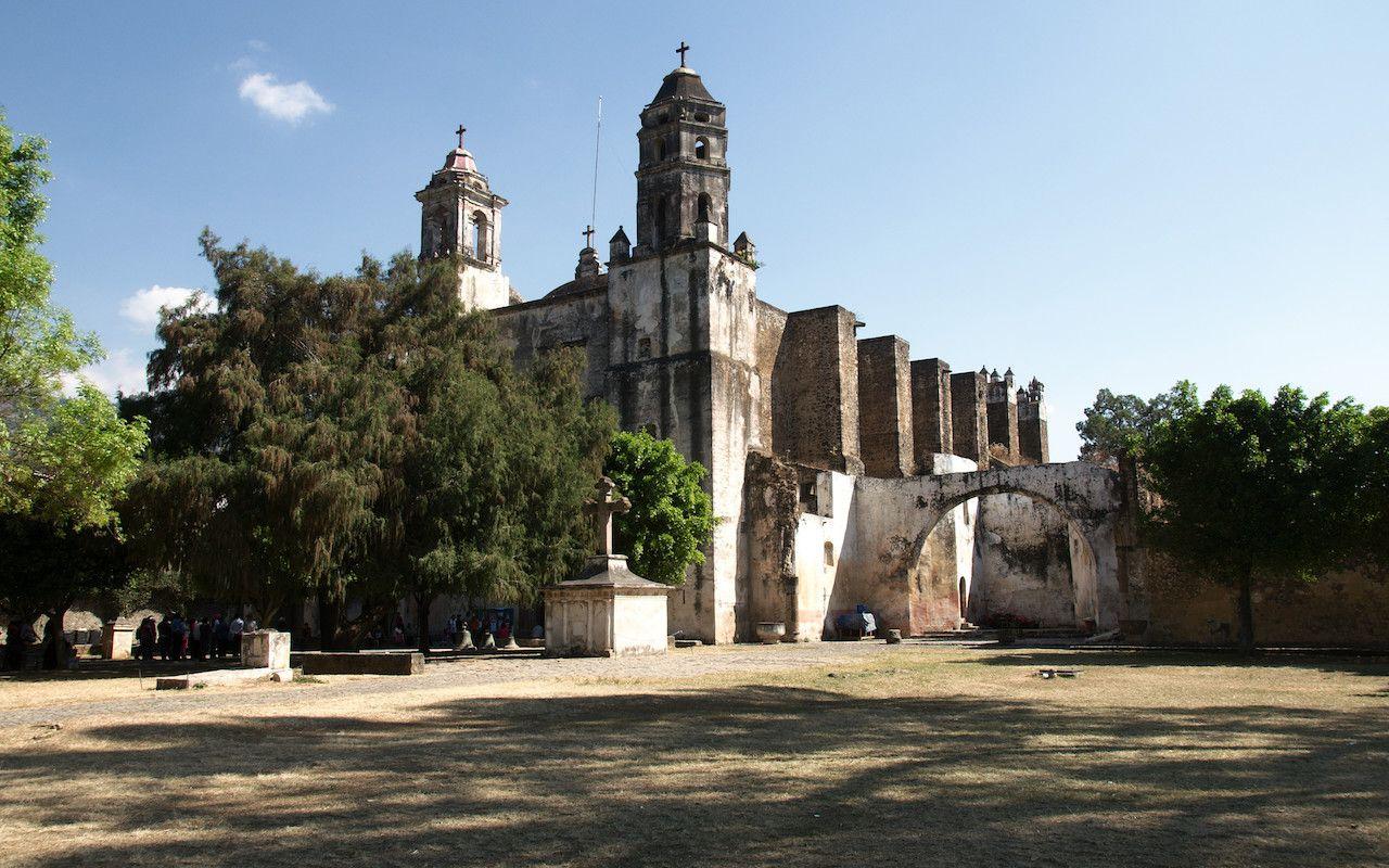 Historic convent in Tepoztlan, Morelos, Mexico
