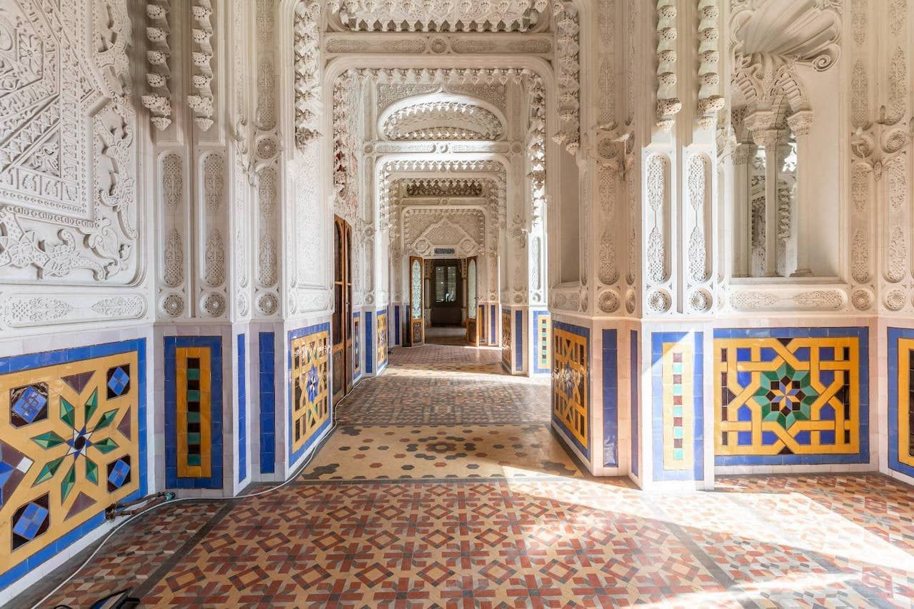 Inside of Sammezzano Castle in Italy