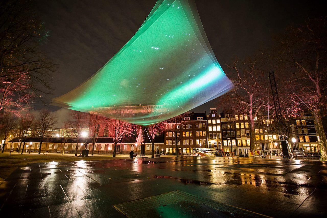 Installation at the Amsterdam Light Festival