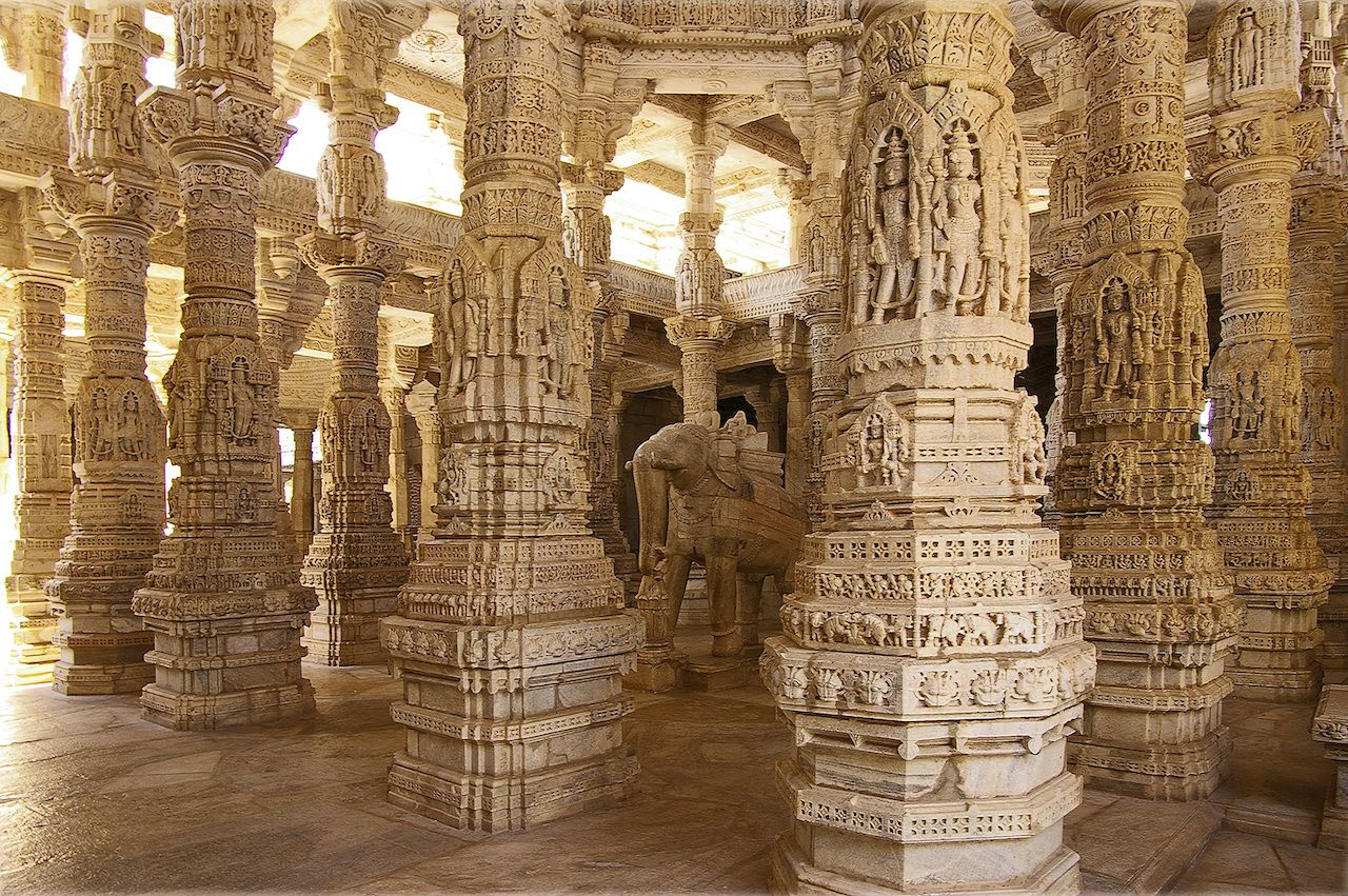 Jain Temple in Ranakpur in India