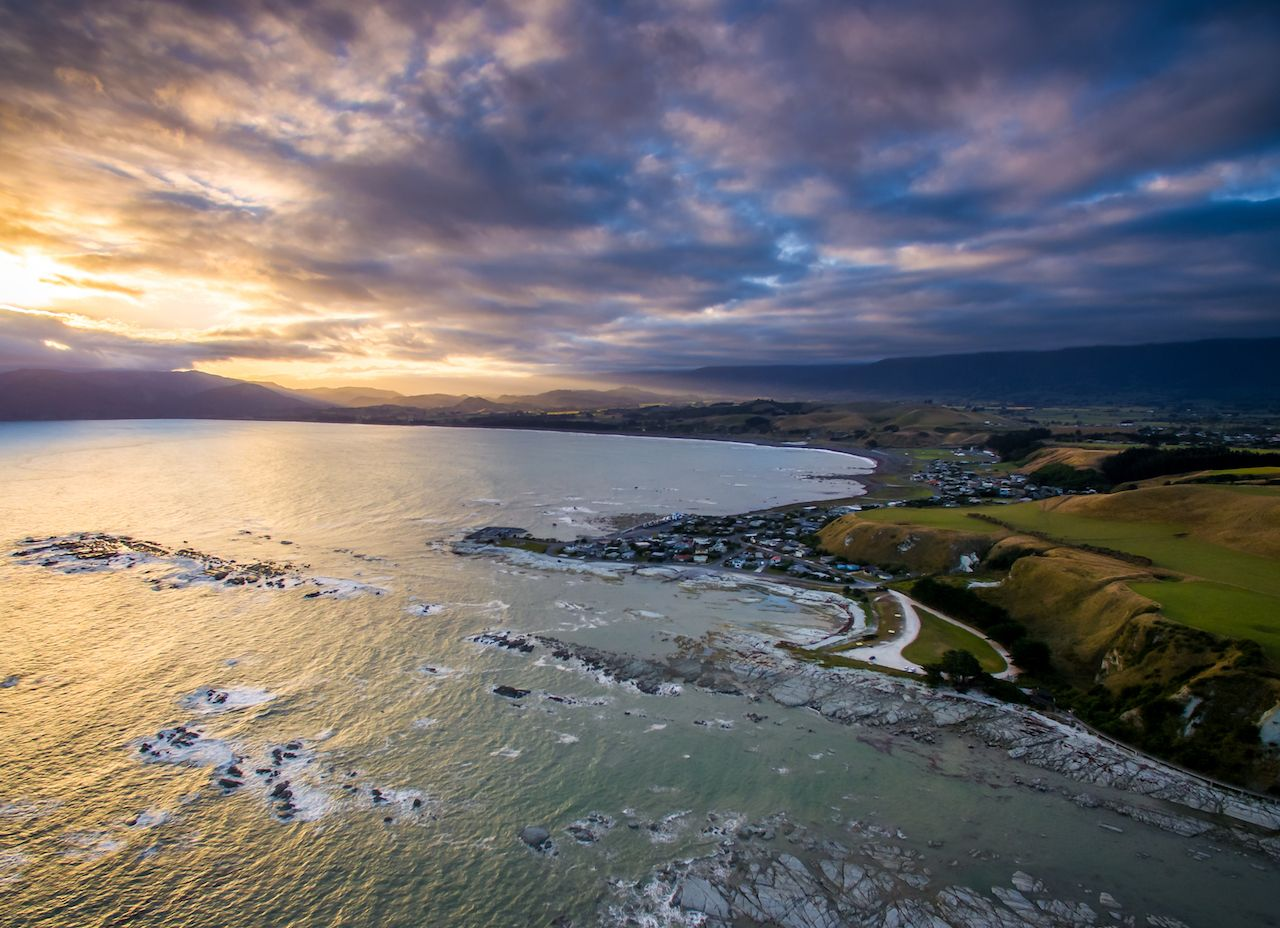 Kaikoura, New Zealand, on the water
