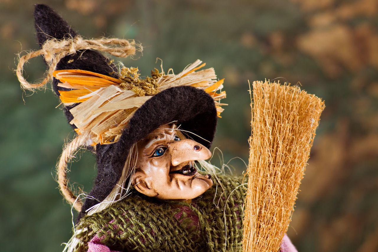 La befana the traditional witch's costume for the epiphany holiday