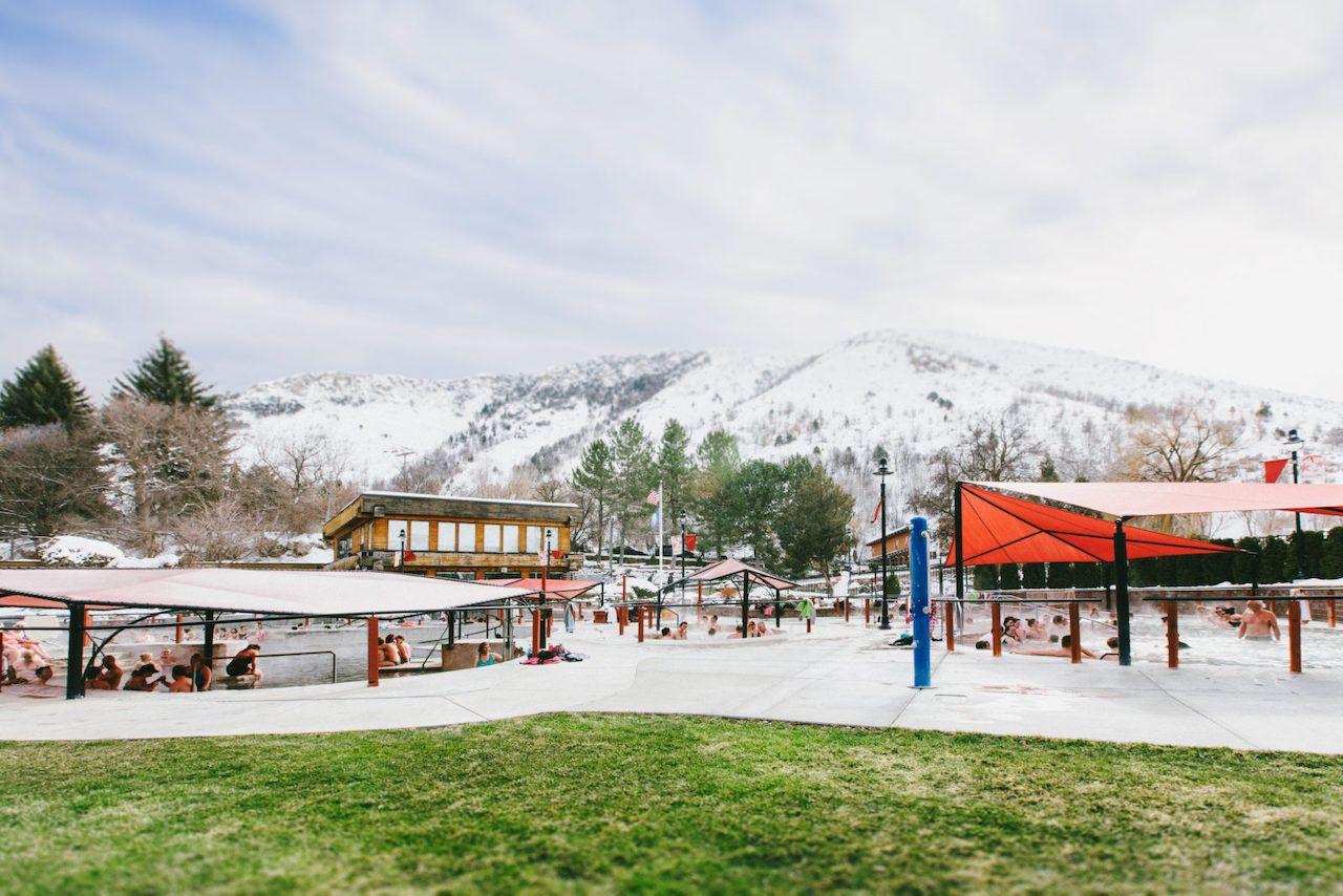 Lava Hot Springs Winter Idaho