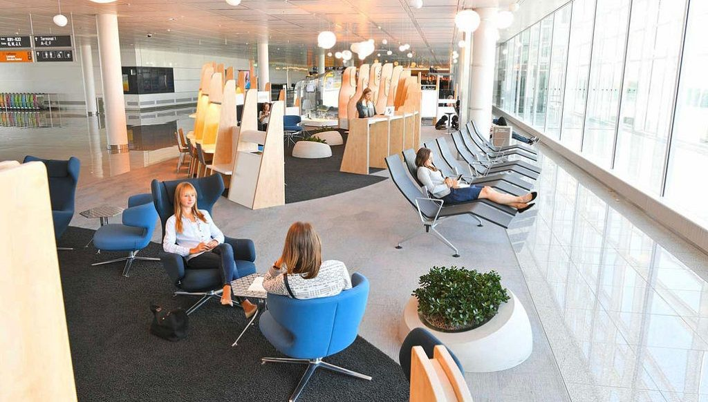 Lounge at Munich Airport, Germany