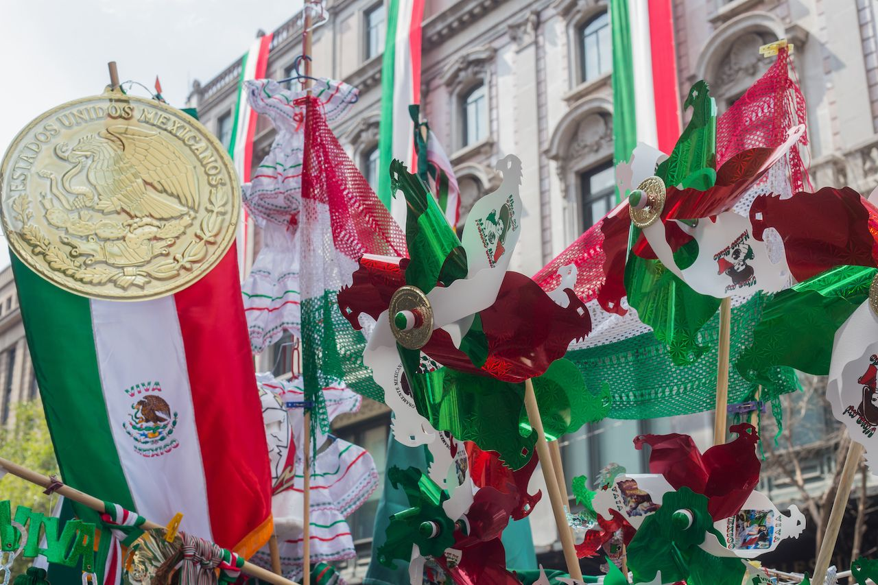 Mexican Independence Day merchandise in Mexico City, Mexico