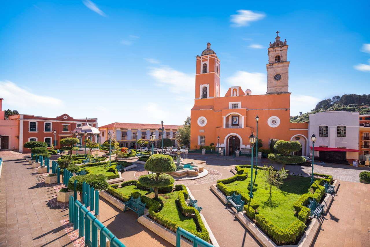Mexican town, Mineral del Monte, commonly called Real del Monte, Hidalgo