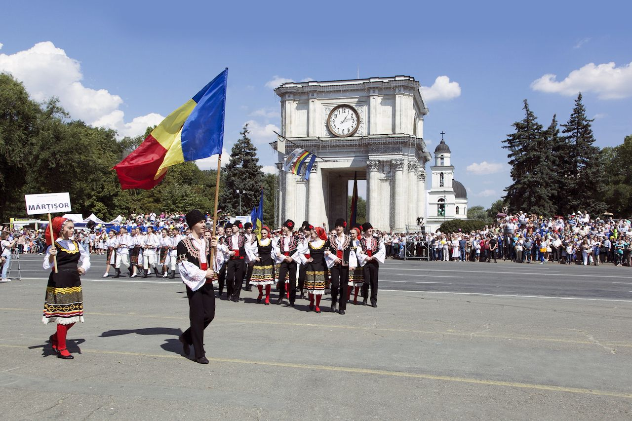 Moldovan Independence Day parade