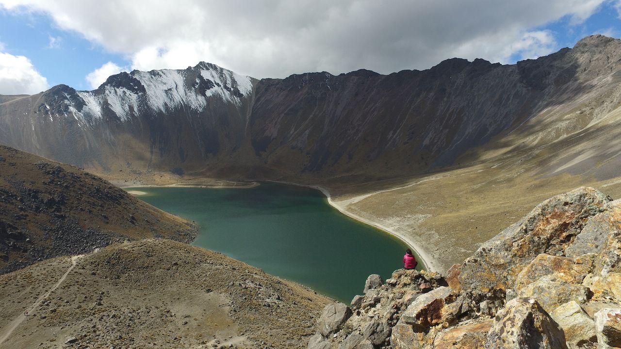 Nevado de Toluca crater lake in Mexico