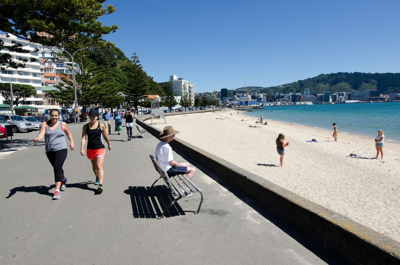 Oriental Bay in Wellington