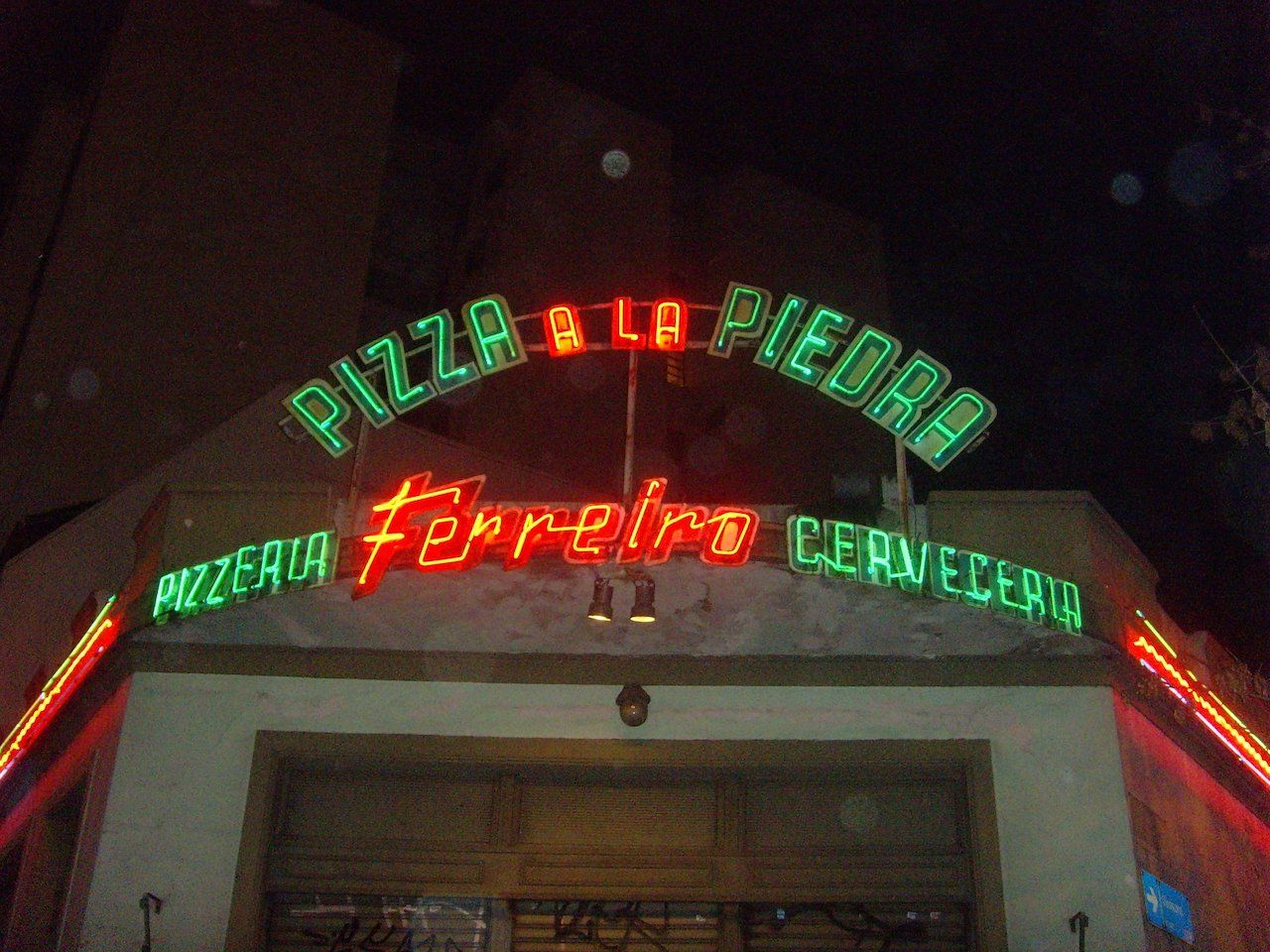 Outside of Pizzeria Ferreiro in Buenos Aires, Argentina