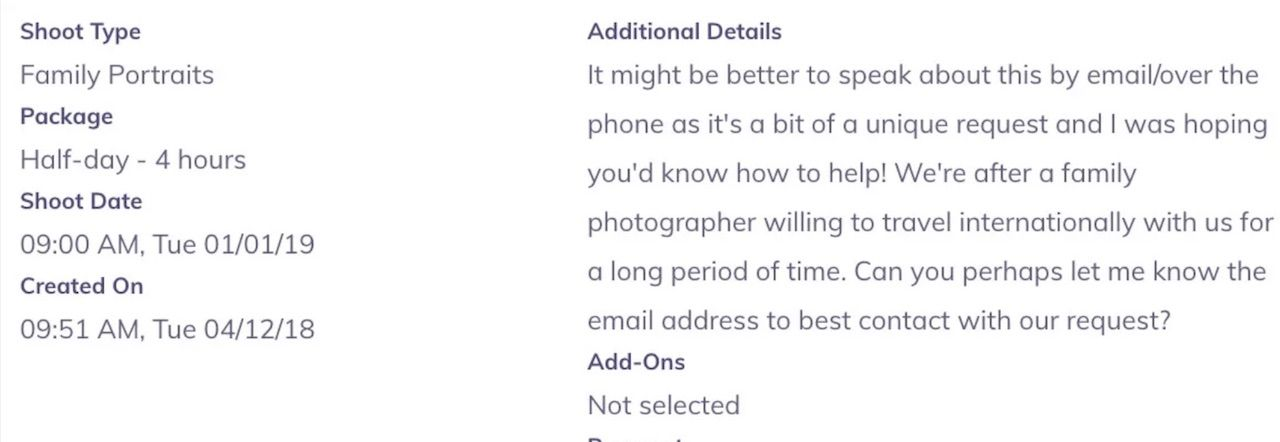 Perfocal photographer wanted post