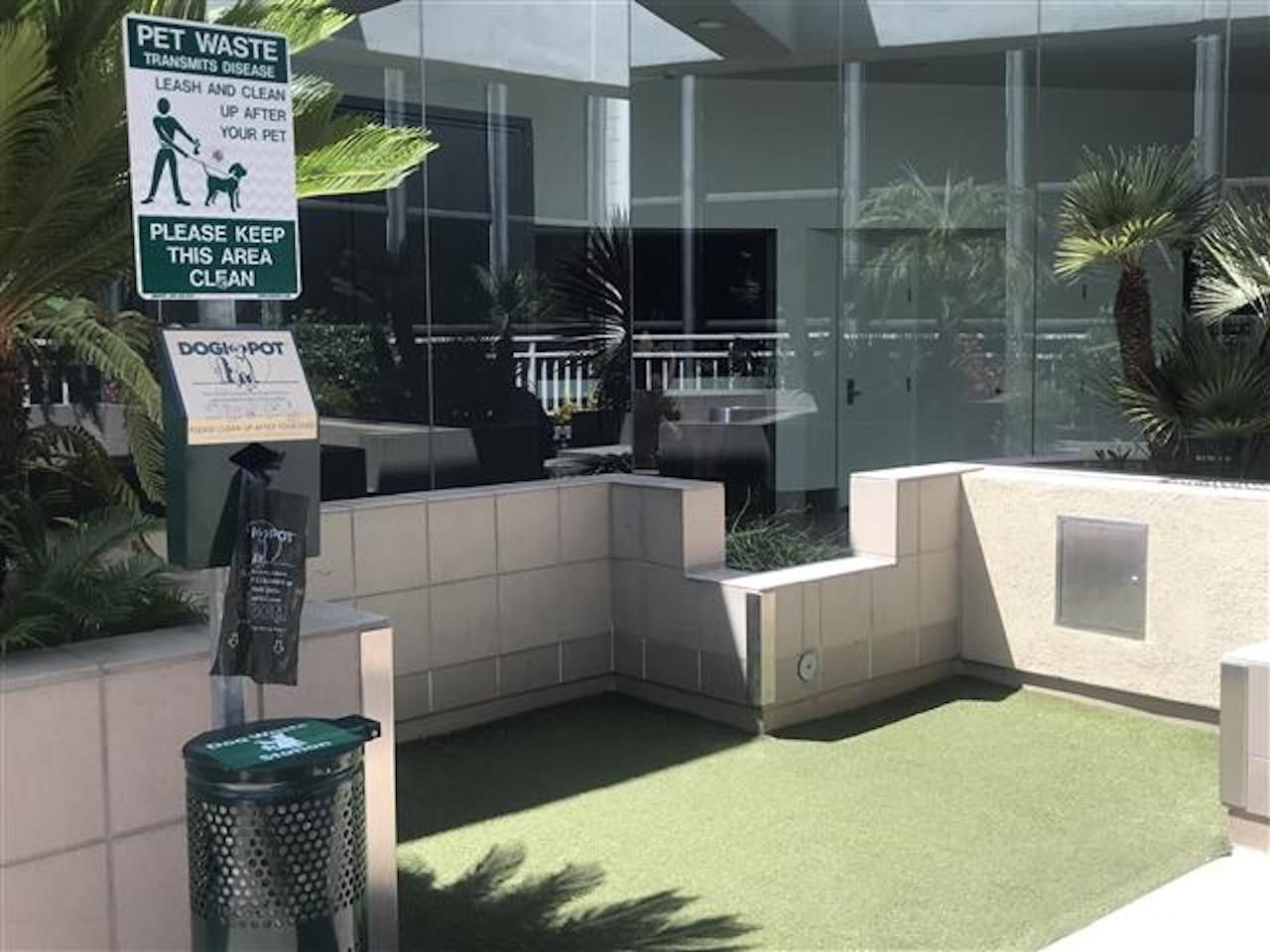 Pet relief area at LAX