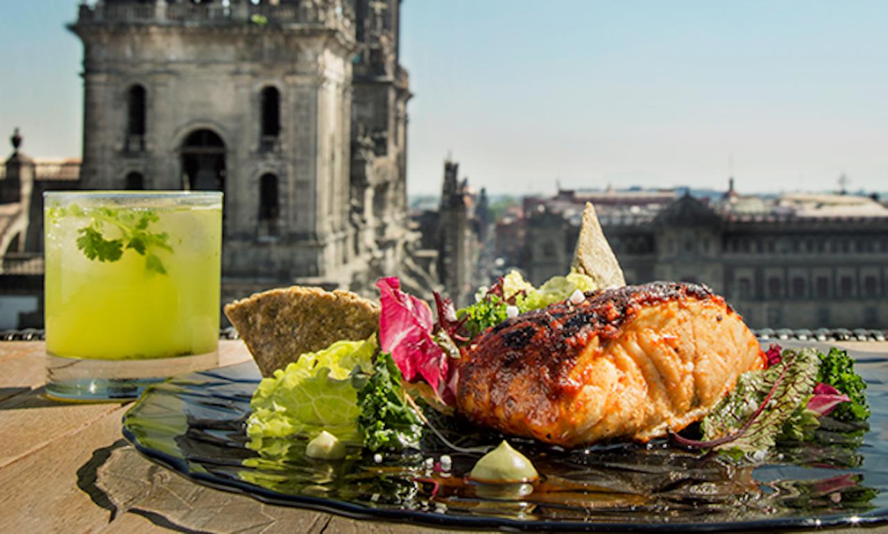 Plate of food from El Balcon del Zocalo Restaurante in Mexico City
