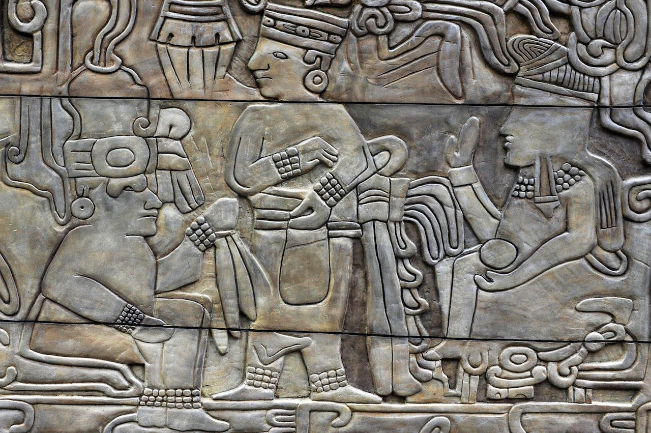 Pre-Columbian engravings in Mexico City