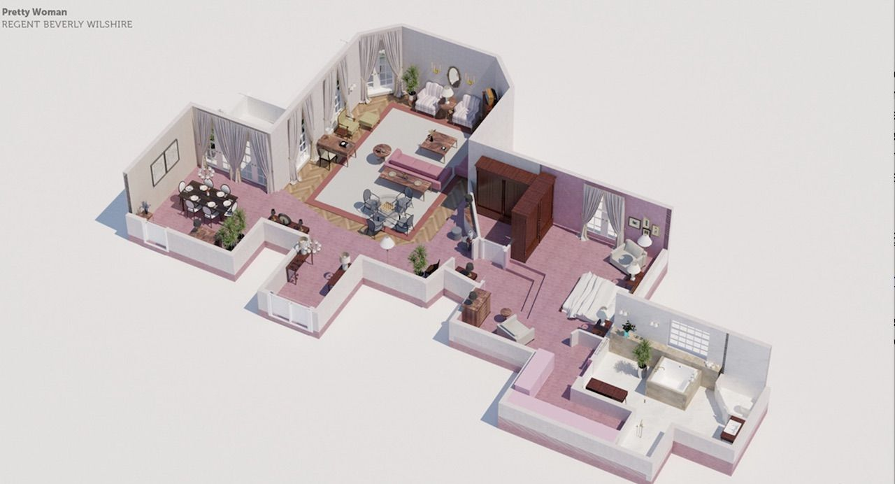 Pretty woman hotel room floor plan