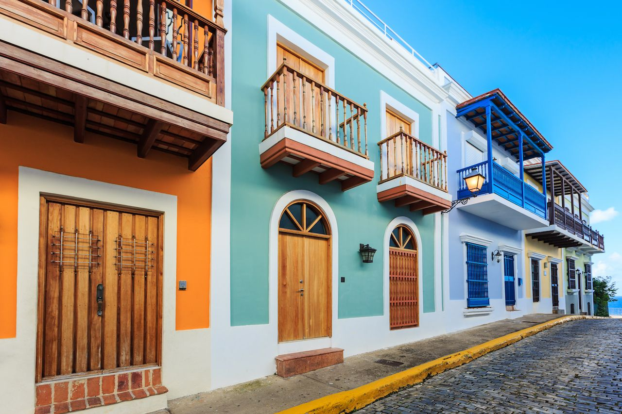 San Juan old town Puerto Rico