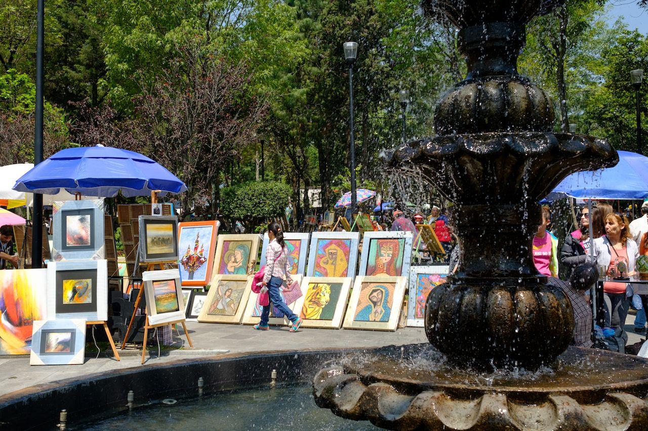 Saturday Bazaar in San Angel, Mexico City