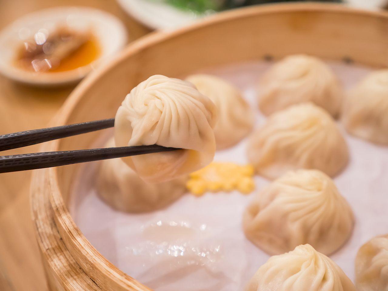 Shanghainese xiao long bao soup dumplings