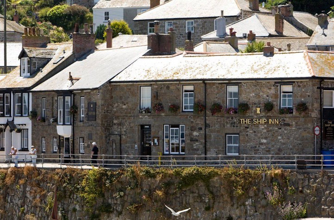 Ship Inn restaurnt in Mousehole near Cornwall, England