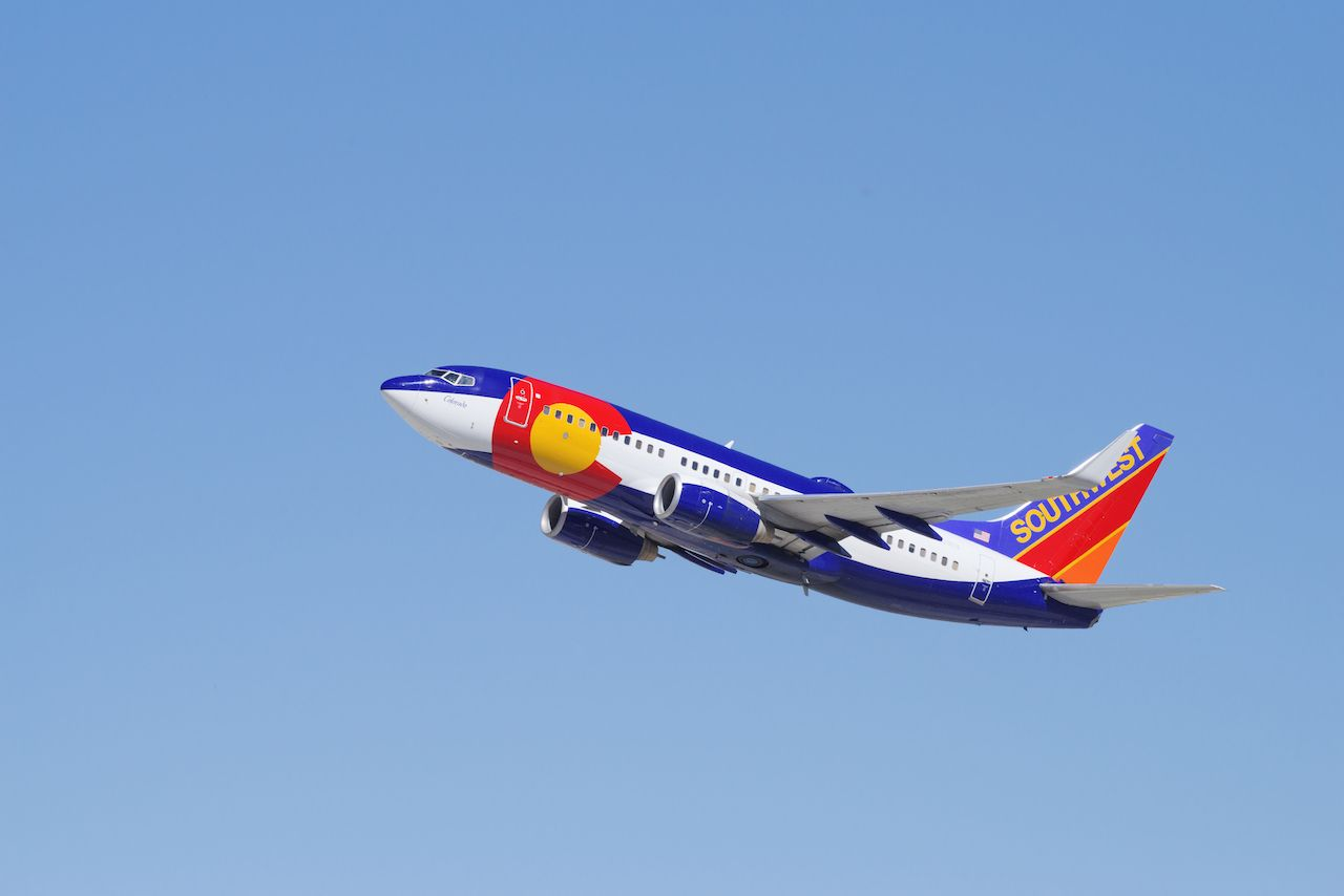 Southwest Airlines Colorado One plane livery