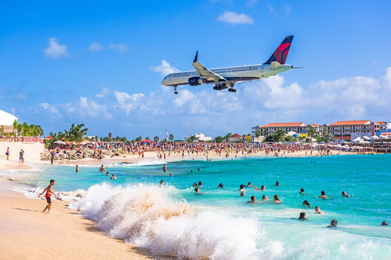 St Maarten Maho Beach airport