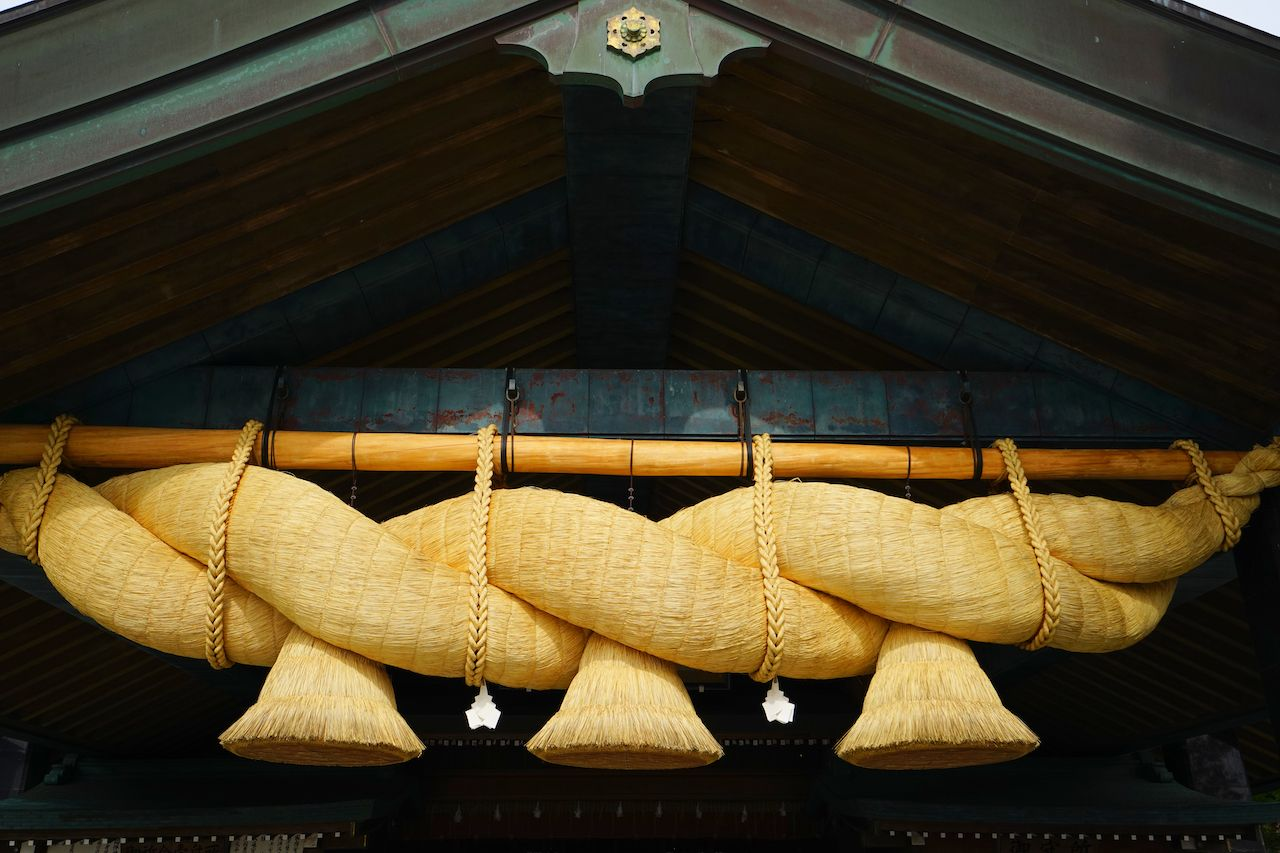 Straw rope at Izumo Taisha Grand Shrine, Shimane, Japan
